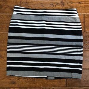 Banana Republic striped mini skirt